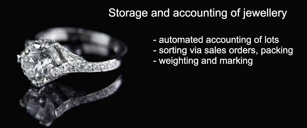 Automated jewellery warehouse