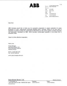 АВВ Reference letter-head проект ВЛП ЗАЗ