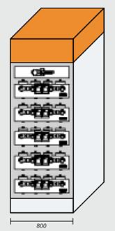 Недросселируемый шкаф 500кВар