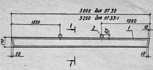 Железобетонная приставка марка ПТ 33-1