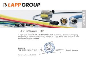 LappGroup Certificate