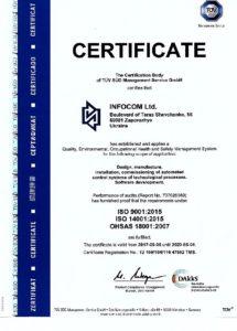 Сертификат ТЮФ ЗЮД ISO9001-2008