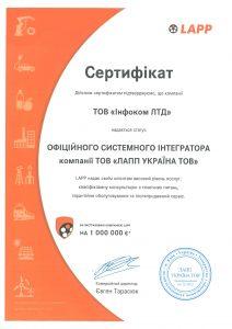 LAPP_certificate2020